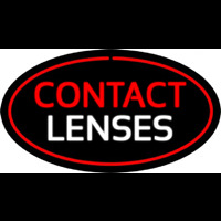 Contact Lenses Oval Red Neon Sign