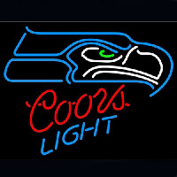 Coors Light Seattle Seahawks Neon Sign