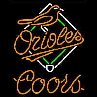 Coors Baltimore Orioles MLB Beer Sign Neon Sign