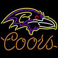 Coors Baltimore Ravens NFL Neon Sign Neon Sign