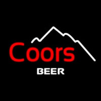 Coors Beer Mountain Neon Sign