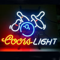 Coors Bowling Beer Neon Sign