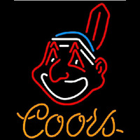 Coors Cleveland Indians MLB Beer Sign Neon Sign