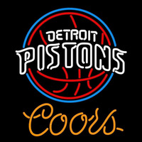 Coors Detroit Pistons NBA Beer Sign Neon Sign