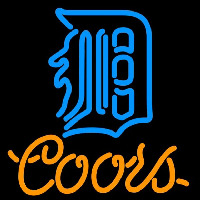 Coors Detroit Tigers MLB 16x16 Beer Sign Neon Sign