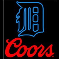 Coors Detroit Tigers MLB Beer Sign Neon Sign