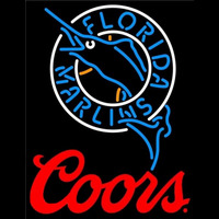 Coors Florida Marlins MLB Beer Sign Neon Sign