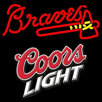 Coors Light Atlanta Braves Mlb 16x16 Beer Sign Neon Sign