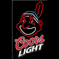 Coors Light Cleveland Indians MLB Beer Sign Neon Sign