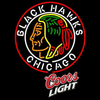 Coors Light Commemorative 1938 Chicago Blackhawks Hockey Beer Sign Neon Sign
