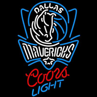 Coors Light Dallas Mavericks NBA Beer Sign Neon Sign