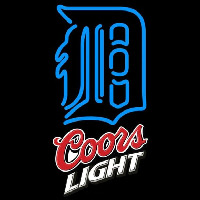 Coors Light Detroit Tigers MLB Beer Sign Neon Sign