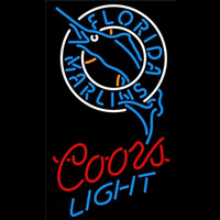 Coors Light Florida Marlins MLB Beer Sign Neon Sign