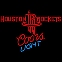 Coors Light Houston Rockets NBA Beer Sign Neon Sign