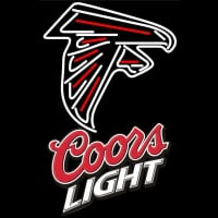 Coors Light Logo Atlanta Falcons NFL Neon Sign Neon Sign