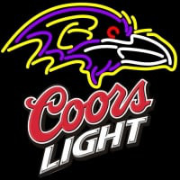 Coors Light Logo Baltimore Ravens NFL Neon Sign Neon Sign