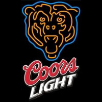 Coors Light Logo Chicago Bears NFL Neon Sign Neon Sign