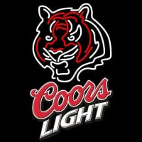 Coors Light Logo Cincinnati Bengals NFL Neon Sign Neon Sign