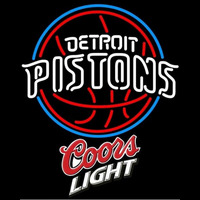 Coors Light Logo Detroit Pistons NBA Beer Sign Neon Sign