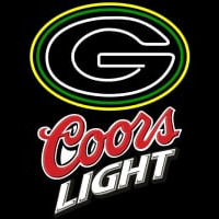 Coors Light Logo Green Bay Packers NFL Neon Sign Neon Sign
