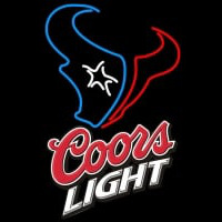 Coors Light Logo Houston Texans NFL Neon Sign Neon Sign
