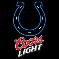 Coors Light Logo Indianapolis Colts NFL Neon Sign Neon Sign