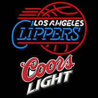 Coors Light Logo Los Angeles Clippers NBA Beer Sign Neon Sign