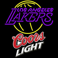 Coors Light Logo Los Angeles Lakers NBA Beer Sign Neon Sign