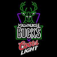 Coors Light Logo Milwaukee Bucks NBA Beer Sign Neon Sign