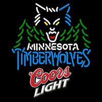 Coors Light Logo Minnesota Timberwolves NBA Beer Sign Neon Sign