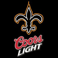 Coors Light Logo New Orleans Saints NFL Neon Sign Neon Sign