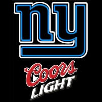 Coors Light Logo New York Giants NFL Neon Sign Neon Sign