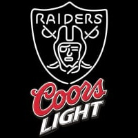 Coors Light Logo Oakland Raiders NFL Neon Sign Neon Sign