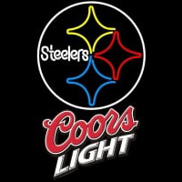 Coors Light Logo Pittsburgh Steelers NFL Neon Sign Neon Sign