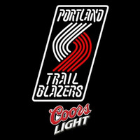 Coors Light Logo Portland Trail Blazers NBA Beer Sign Neon Sign