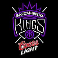 Coors Light Logo Sacramento Kings NBA Beer Sign Neon Sign