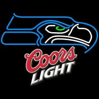 Coors Light Logo Seattle Seahawks NFL Neon Sign Neon Sign