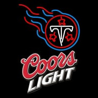 Coors Light Logo Tennessee Titans NFL Neon Sign Neon Sign