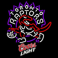 Coors Light Logo Toronto Raptors NBA Beer Sign Neon Sign