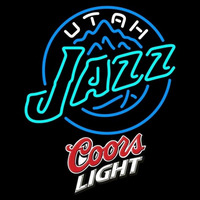 Coors Light Logo Utah Jazz NBA Beer Sign Neon Sign