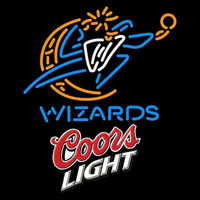 Coors Light Logo Washington Wizards NBA Beer Sign Neon Sign