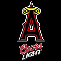 Coors Light Los Angeles Angels of Anaheim MLB Beer Sign Neon Sign