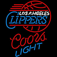 Coors Light Los Angeles Clippers NBA Beer Sign Neon Sign