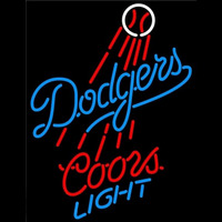 Coors Light Los Angeles Dodgers MLB Beer Sign Neon Sign