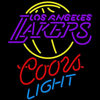 Coors Light Los Angeles Lakers NBA Beer Sign Neon Sign