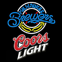 Coors Light Milwaukee Brewers MLB Beer Sign Neon Sign