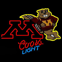 Coors Light Minnesota Golden Gophers University Beer Sign Neon Sign