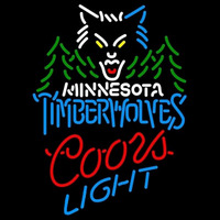 Coors Light Minnesota Timberwolves NBA Beer Sign Neon Sign