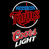 Coors Light Minnesota Twins MLB Beer Sign Neon Sign