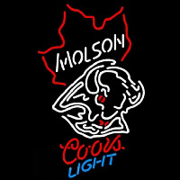 Coors Light Molson Buffalo Sabres Hockey Beer Sign Neon Sign